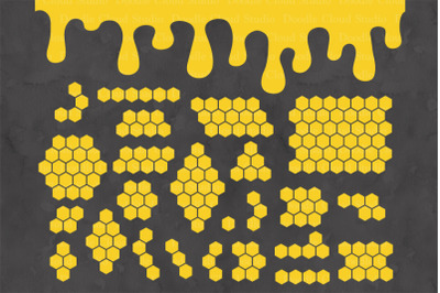 Honeycombs SVG, Honey Drip, Bee Hive Svg,
