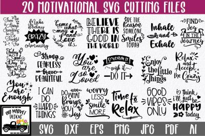 Motivational SVG Cut File Bundle - Inspirational Sayings