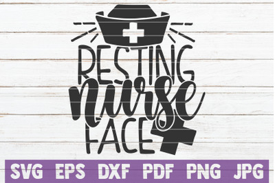Resting Nurse Face SVG Cut File