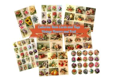 Catherine Klein Vintage Fruit and Flowers Scrapbook Kit