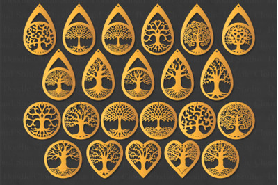 Earrings SVG, Tree of Life Earrings SVG, Pendant Svg, Jewelry