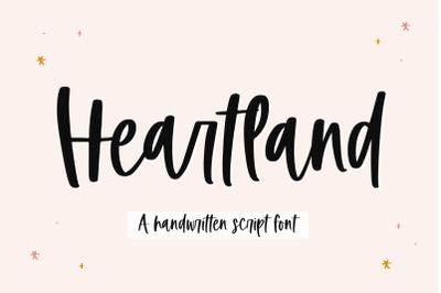 Heartland - A Handwritten Script Font