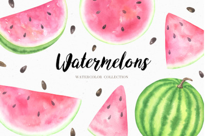Watercolor Watermelon Collection