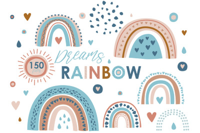 Rainbow - Vector Clipart, Patterns