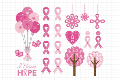 Breast Cancer Awareness-Digital Clipart (LES.CL59)