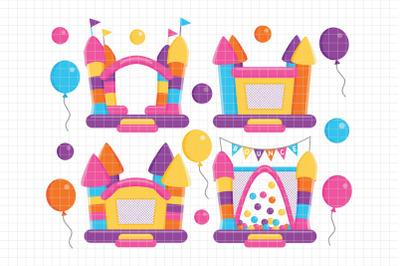 Bounce House-Digital Clipart (LES.CL62B)