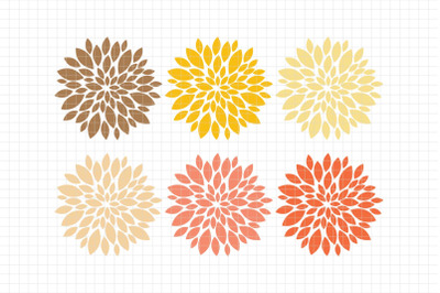 Beautiful Dahlias-Digital Clipart (LES.CL67C)
