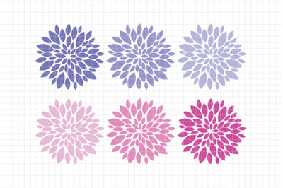 Beautiful Dahlias-Digital Clipart (LES.CL67D)