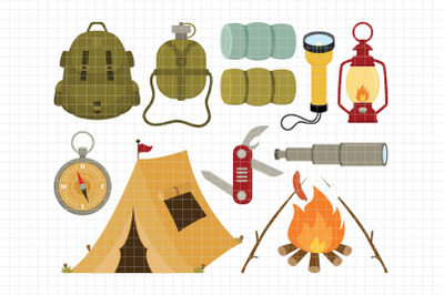 Camping-Digital Clipart (LES.CL68A)