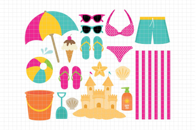 Beach-Digital Clipart (LES.CL70B)