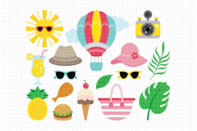 Summer-Digital Clipart (LES.CL71)