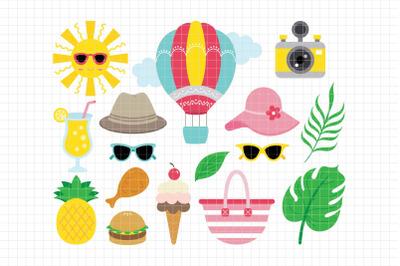 Summer-Digital Clipart (LES.CL71)