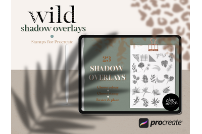 Wild Shadow Overlays for Procreate