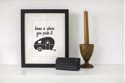 Home Is Where You Park It Retro RV Camper Trailer | SVG | PNG | DXF |