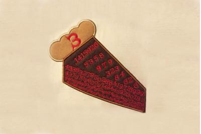Pi Pie | Applique Embroidery