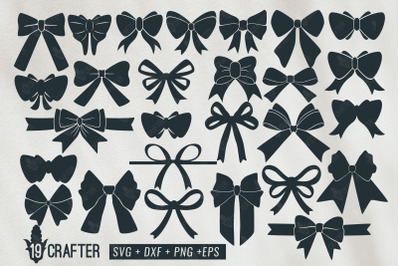 cute and beautiful bow tie ribbon knot svg bundle
