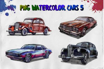 PNG watercolor cars 5