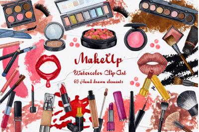 Makeup Watercolor Clip Art. 600dpi