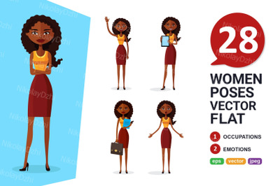 African women animated vector collection