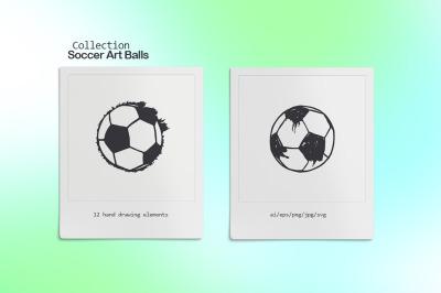 Collection Soccer Art balls