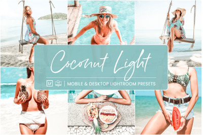 Coconut Light -  Mobile & Desktop Lightroom Presets
