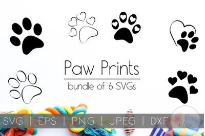 Paw Prints SVG Bundle