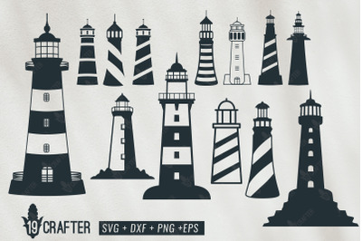 lighthouse shore watch tower svg bundle