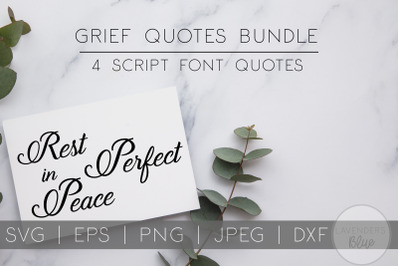 Grief Quotes Bundle | RIP | Rest in Peace SVG