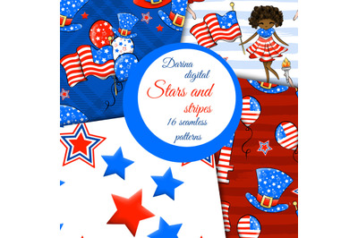 USA day seamless papers