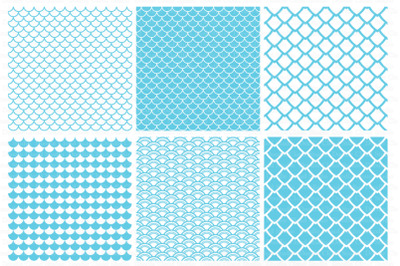 Seamless Scales Pattern SVG, Mermaid Scale SVG.