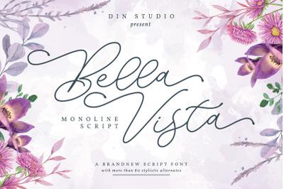 Bella Vista _ Monoline Script