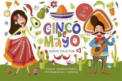Cinco de Mayo. Fiesta Graphic Pack.