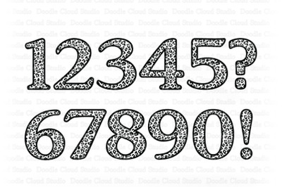Leopard Numbers SVG, Animal Numbers SVG Cut Files.