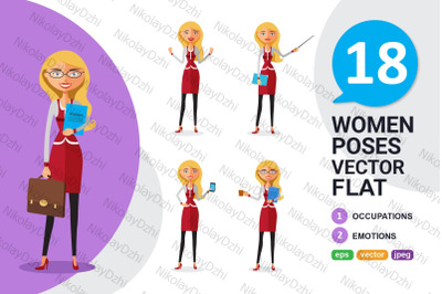 Blonde Woman business Character collection
