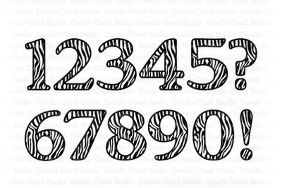 Zebra Numbers SVG, Animal Numbers SVG Cut Files.