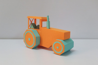 DIY Road Roller - 3d papercraft