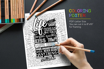 Coloring Quote