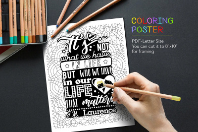 Coloring Anti-Stress Poster