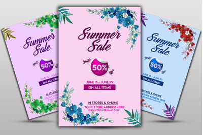 Summer Sale Offer Flyer Template