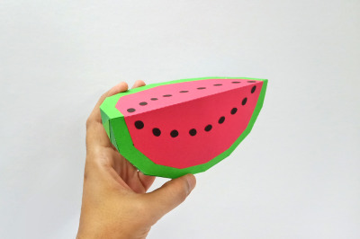 DIY Watermelon - 3d papercraft