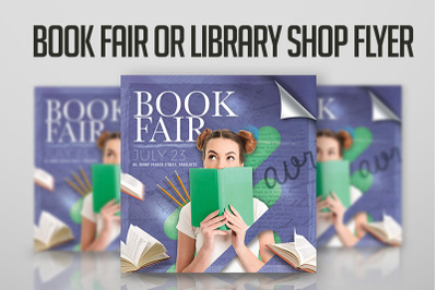 Book Fair Or Library Shop Flyer
