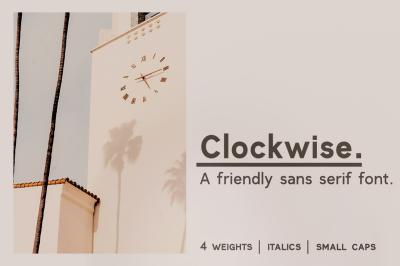 Clockwise sans serif font