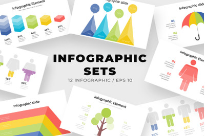 Set of Modern Infographic Design Template
