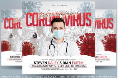 Coronavirus Live Conference Flyer
