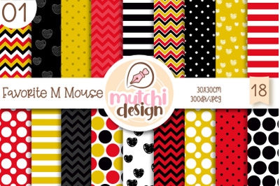 Favorite M Mouse 01 Digital Papers