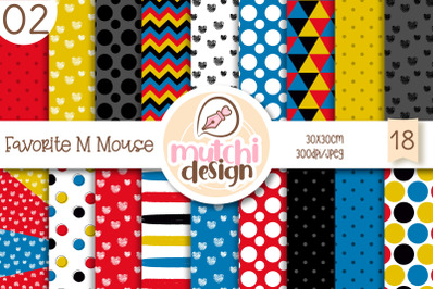 Favorite M Mouse 02 Digital Papers