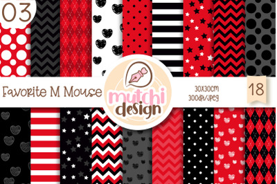 Favorite M Mouse 03 Digital Papers