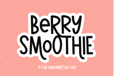 Berry Smoothie - Fun Handwritten Font
