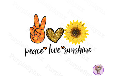 Peace Love Sunshinepng sublimation