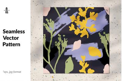 Abstarct floral seamless pattern